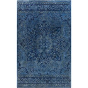 Arensburg Hand-Tufted Navy Area Rug