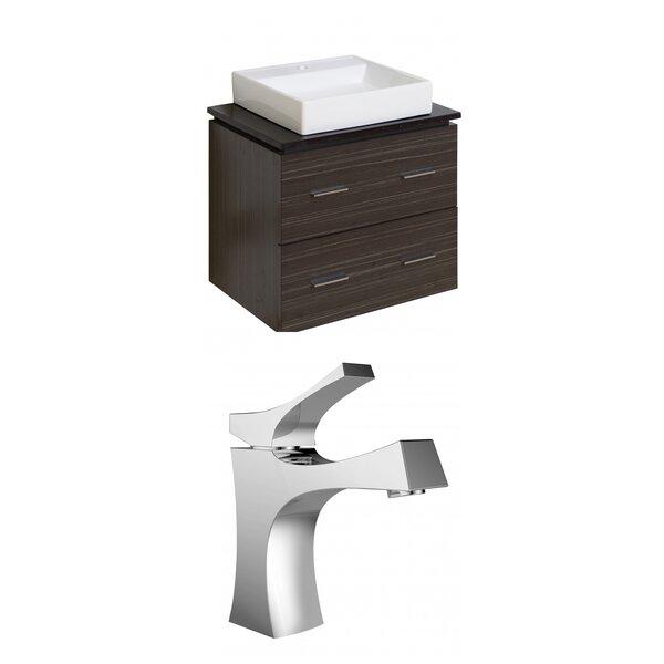Kaplan Modern Wall Mount 24 Single Bathroom Vanity Set by Royal Purple Bath Kitchen