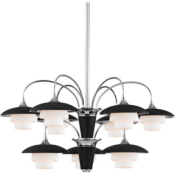 Kramer 9-Light Shaded Tiered Chandelier by Corrigan Studio Corrigan Studio