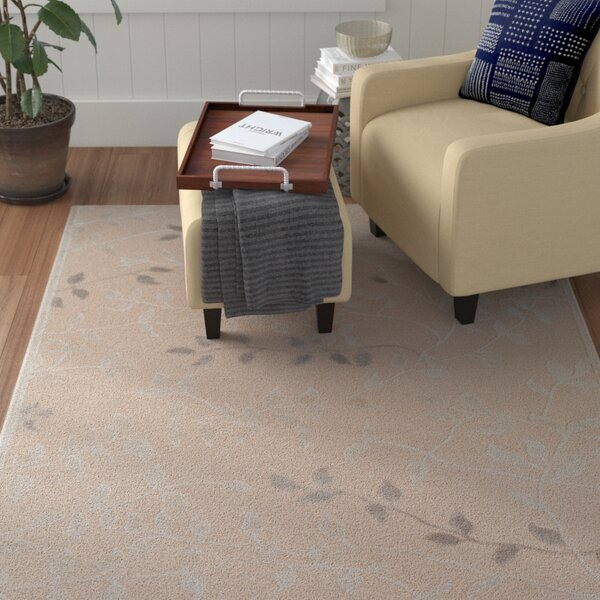 Holoman Transitional Floral Beige Area Rug by Winston Porter