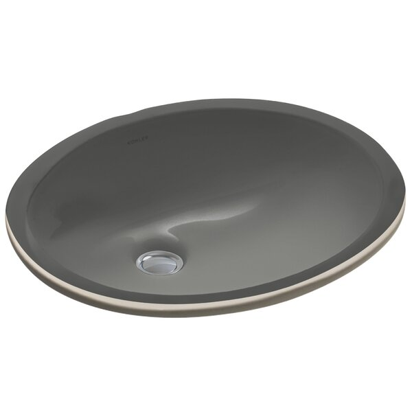 Caxton Ceramic Oval Undermount Bathroom Sink with Overflow