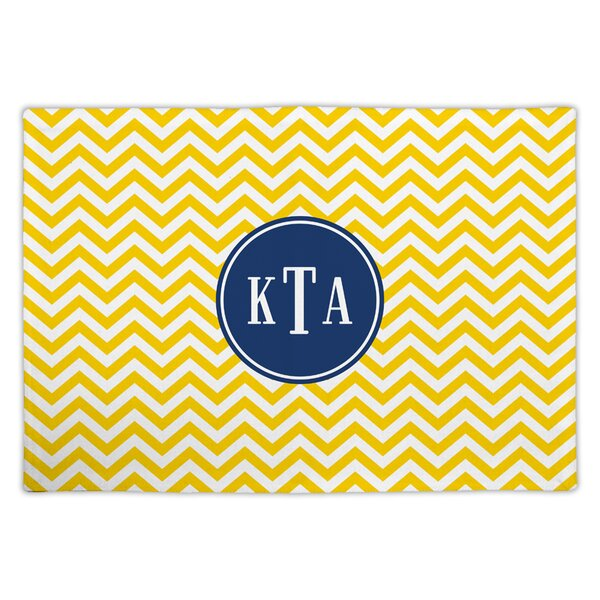 Chevron Classic Monogram Fabric Placemat by Boatman Geller