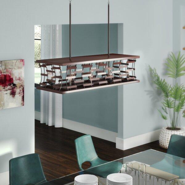 Finian 8-Light Rectangle Chandelier by Wrought Studio Wrought Studio