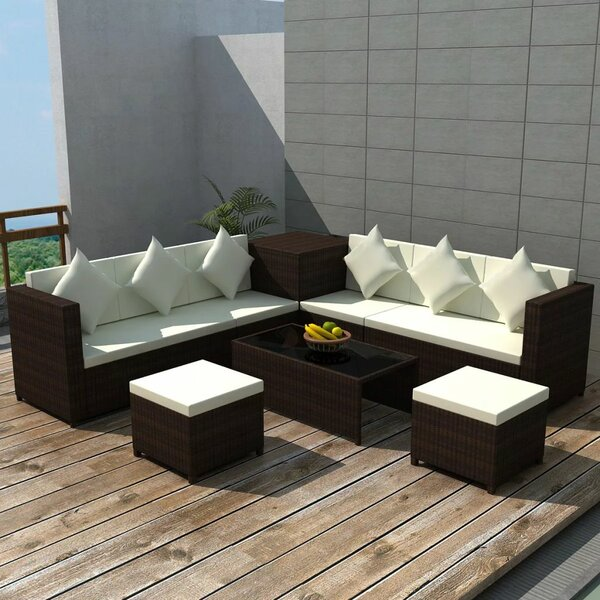 Stotfold Garden 8 Piece Sectional Seating Group with Cushions by Ivy Bronx