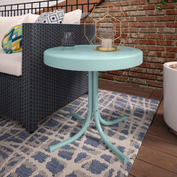Timothea Steel Side Table by Mercury Row