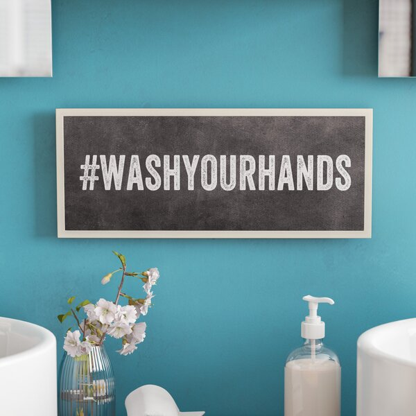 Wash Your Hands Hashtag Bathroom Wall Plaque by Zipcode Design