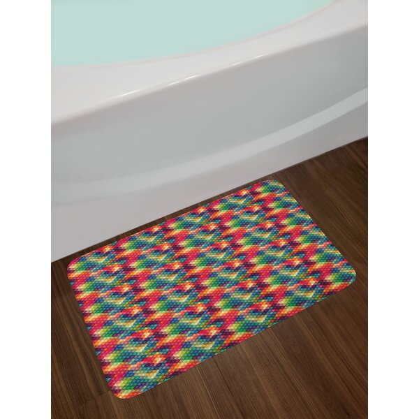 Colorful Intertwined Abstract Bath Rug by East Urban Home