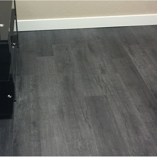 Legno 7 x 48 x 8mm Oak Laminate Flooring in Boston Dark Gray by Patina Design