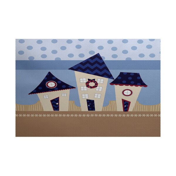 Christmass Navy Blue Indoor/Outdoor Area Rug by The Holiday Aisle