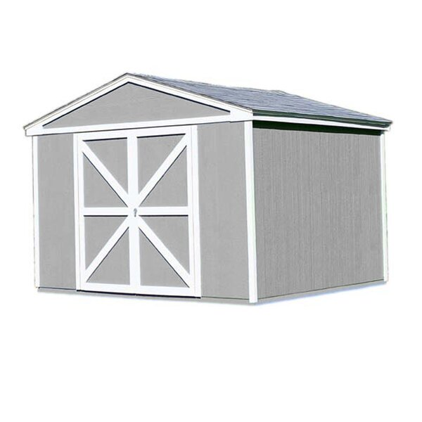 Premier Series 10 ft. 6 in. W x 8 ft. 2 in. D Wood Storage Shed by Handy Home