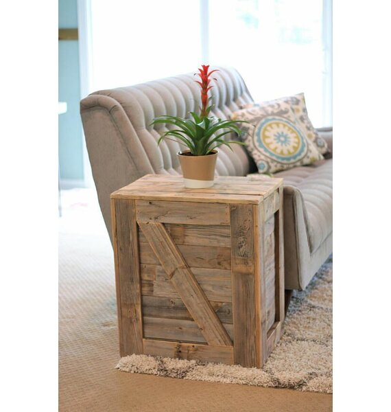 Menendez Crate End Table by Gracie Oaks