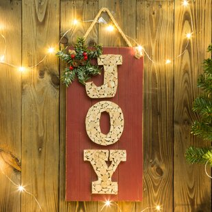 traditional wooden joy sign wall dcor - Joy Christmas Decoration