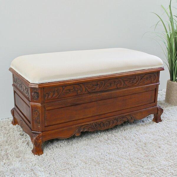 Windsor Hand Carved Storage Bench by International Caravan