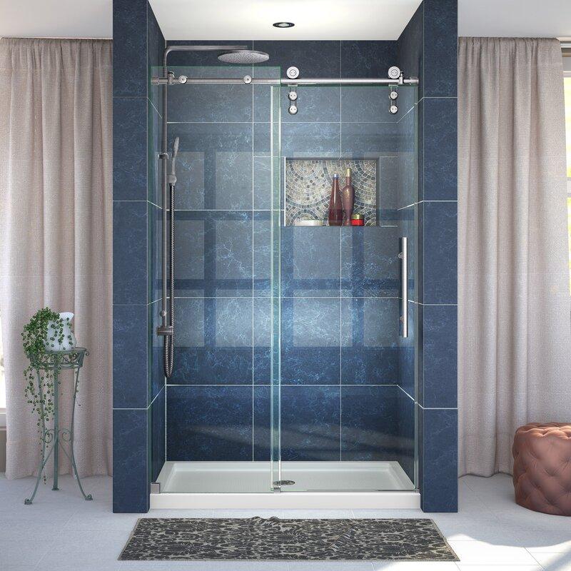 Dreamline Enigma Z 48 X 76 Single Sliding Frameless Shower Door