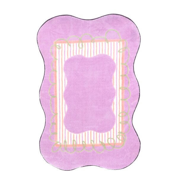 Supreme Scalloped Girls Purple Area Rug by Fun Rugs
