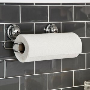 Stainless Steel Wall Mount Paper Towel Holder with Powerful Suction Cup