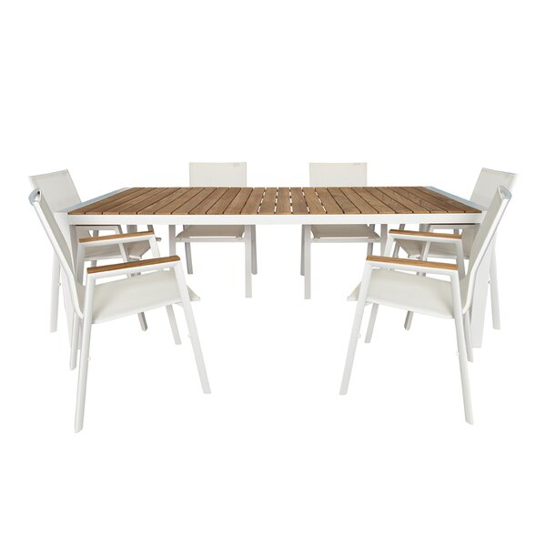 Santino 7 Piece Teak Dining Set by UrbanMod