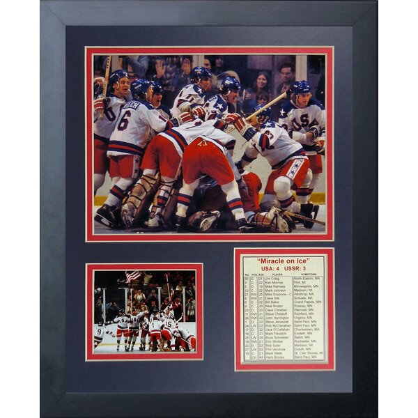 1980 USA Hockey Champions Framed Memorabilia by Legends Never Die