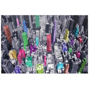 'Colorful New York' Graphic Art on Canvas by Zipcode Design
