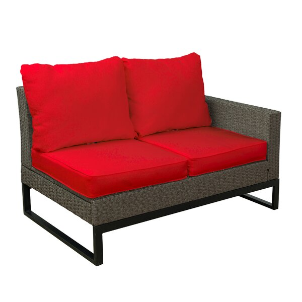 Bawden 4 Piece Rattan Sectional Seating Group with Cushions by Gracie Oaks