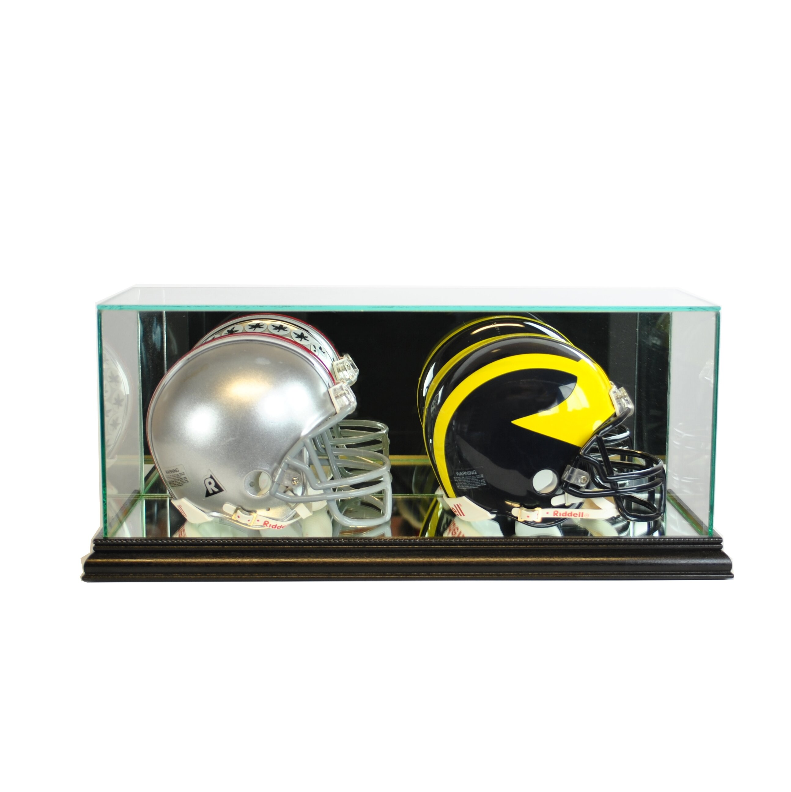 Perfect Cases and Frames Double Mini Football Helmet Display Case ...