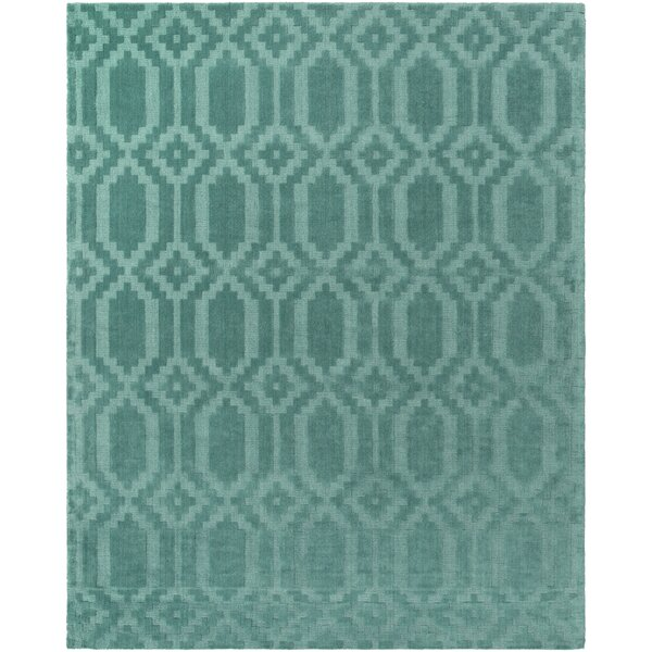 Brack Hand-Loomed Teal Area Rug by Wrought Studio