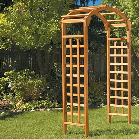 Garden Wood Arbor by Greenstone Garden Structures