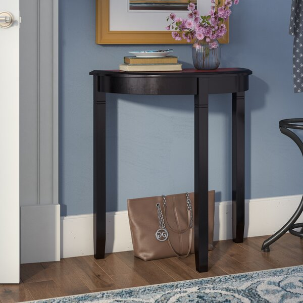 Home & Outdoor Hilbert Demilune Console Table