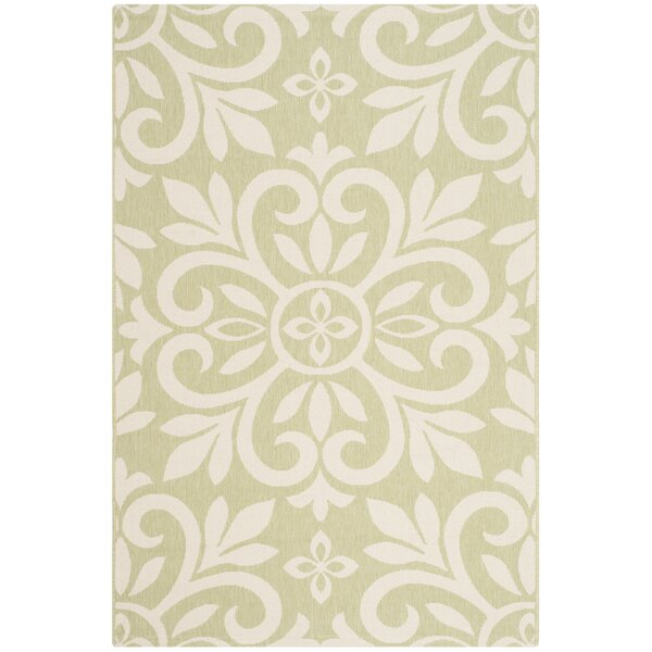 Quayle Green/Tan Area Rug by August Grove