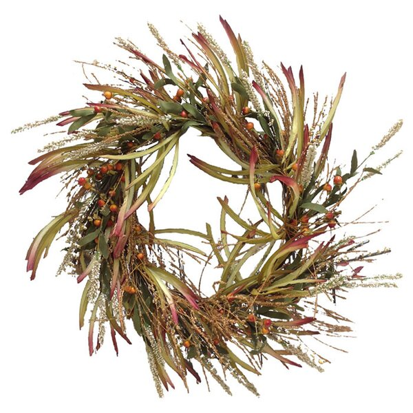 Grass Fall Wreath by Mills Floral