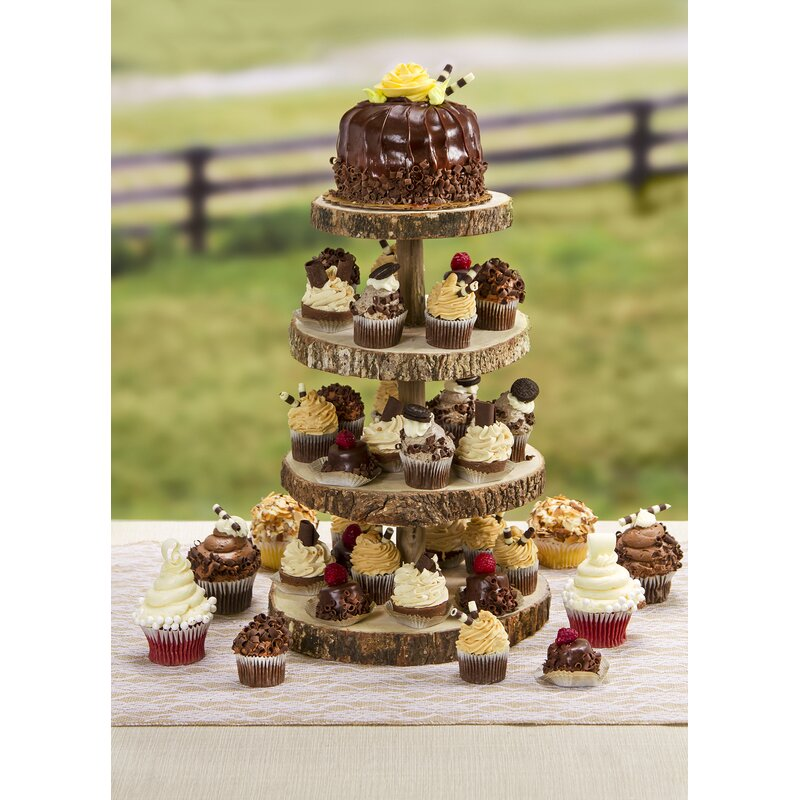 Rebrilliant Bourquin Slice Cupcake Tiered Stand & Reviews | Wayfair