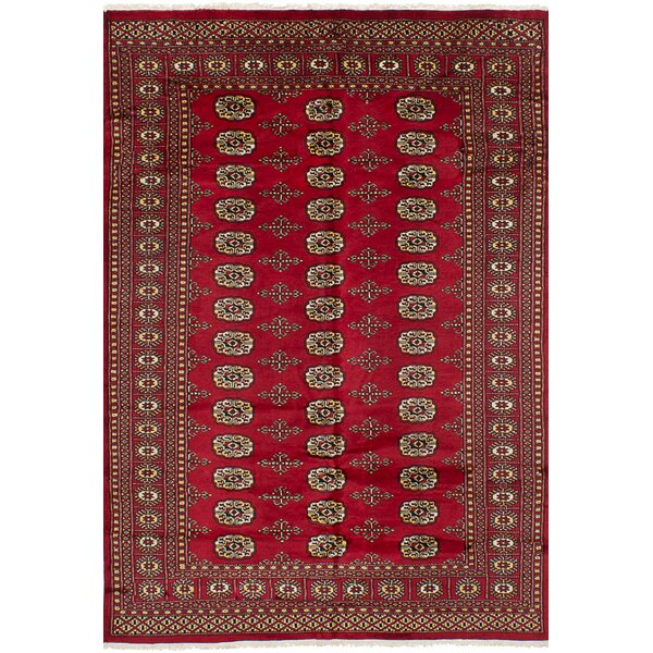 One-of-a-Kind Olney Springs Hand-Knotted Wool Red Indoor Area Rug by Bloomsbury Market