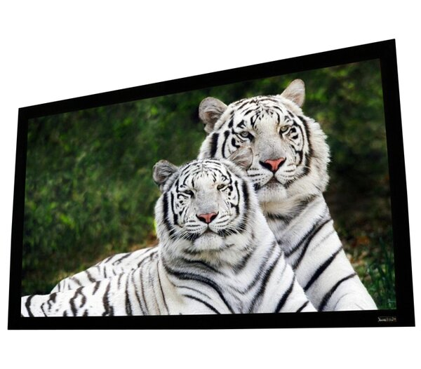 Elunevision Reference Studio AudioWeave 4K White Fixed Frame Projection Screen by Elunevision