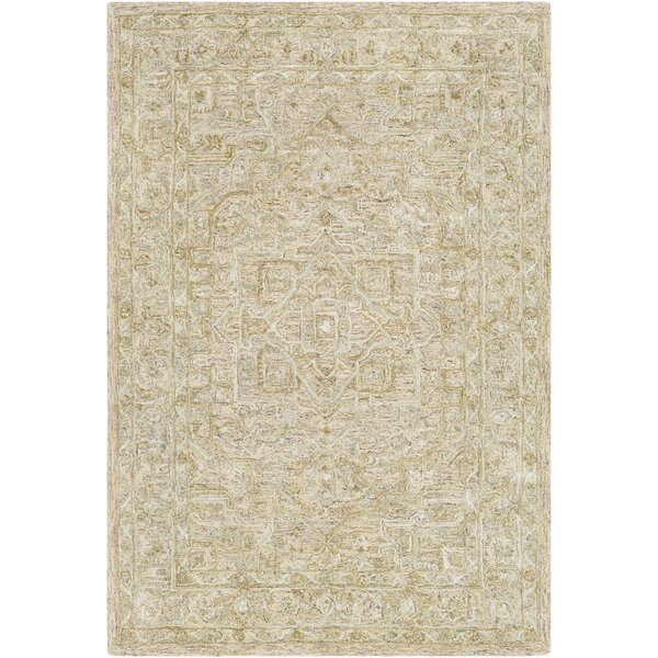 Jambi Traditional Hand Tufted Wool Tan/Beige Area Rug by Ophelia & Co.