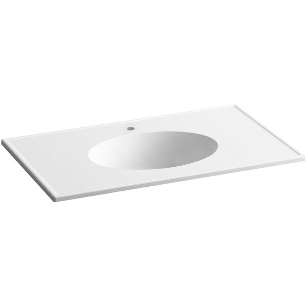 Ceramic Impressions Ceramic Rectangular Dual Mount Bathroom Sink with Overflow by Kohler