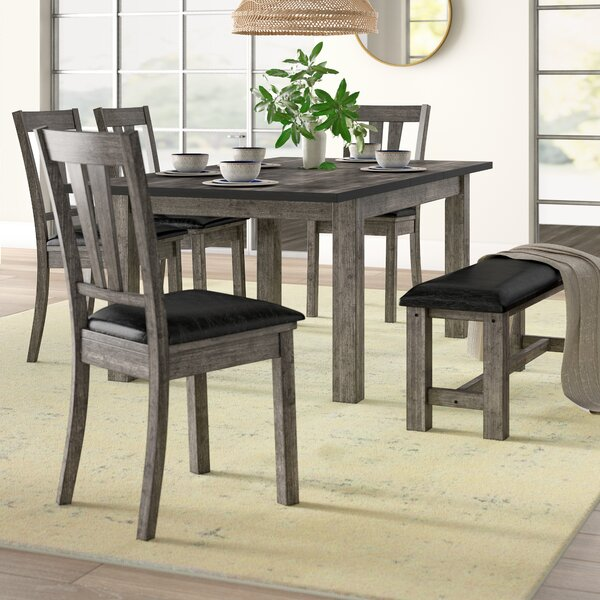 Katarina 6 Piece Extendable Solid Wood Dining Set by Mistana