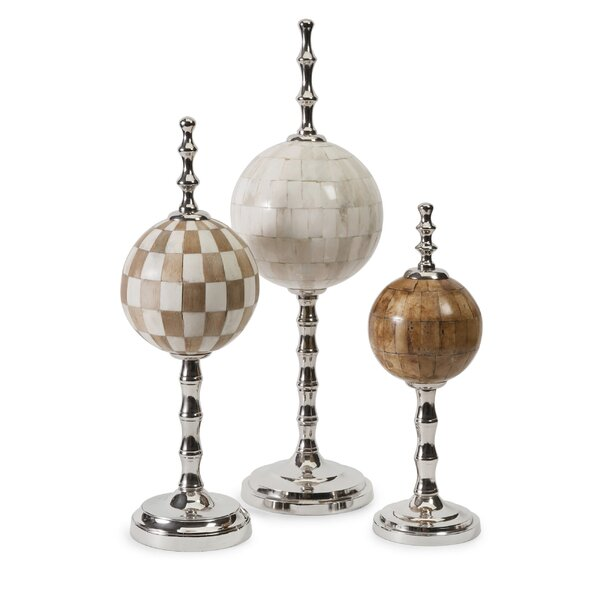 Bone Finials 3 Piece Globe Set by Darby Home Co