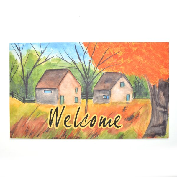 Country Autumn Crumb Rubber Doormat by The Holiday Aisle