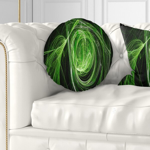 Abstract Ball of Yarn Throw Pillow by East Urban Home