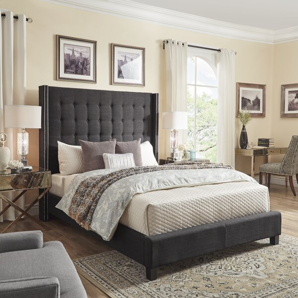 Luxullian Button Tufted Platform Bed by Rosdorf Park