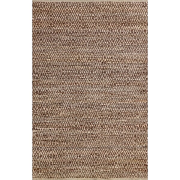 Azaria Hand-Woven Brown Area Rug by Bungalow Rose