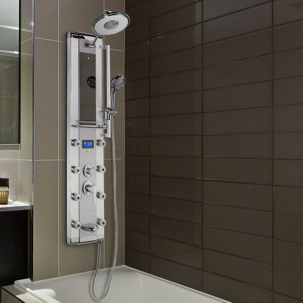 Led Diverter/dual Function Shower Panel - Includes Rough-In Valve By Akdy.