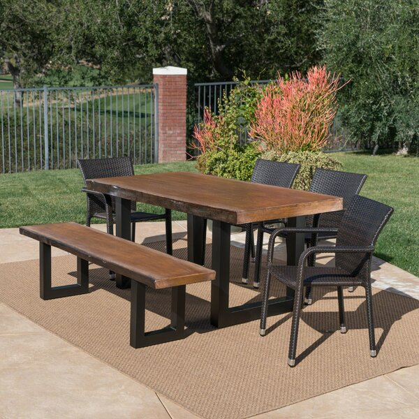 Crosby Outdoor 6 Piece Dining Set by Foundry Select
