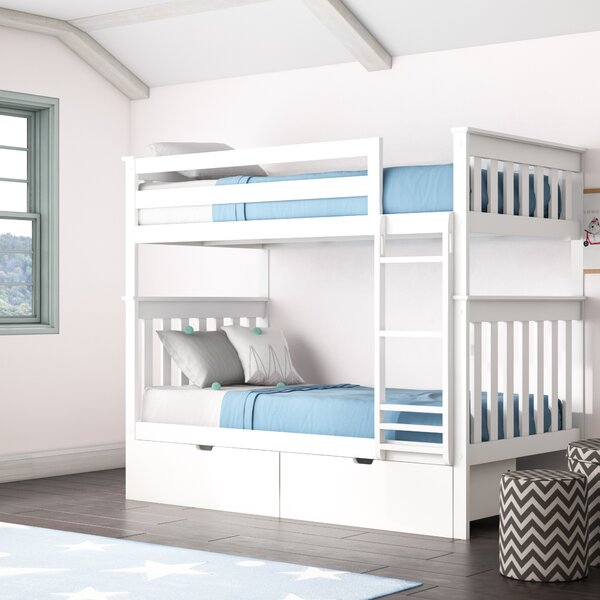 Absecon Twin Over Twin Bunk Bed with Drawers by Mack & Milo