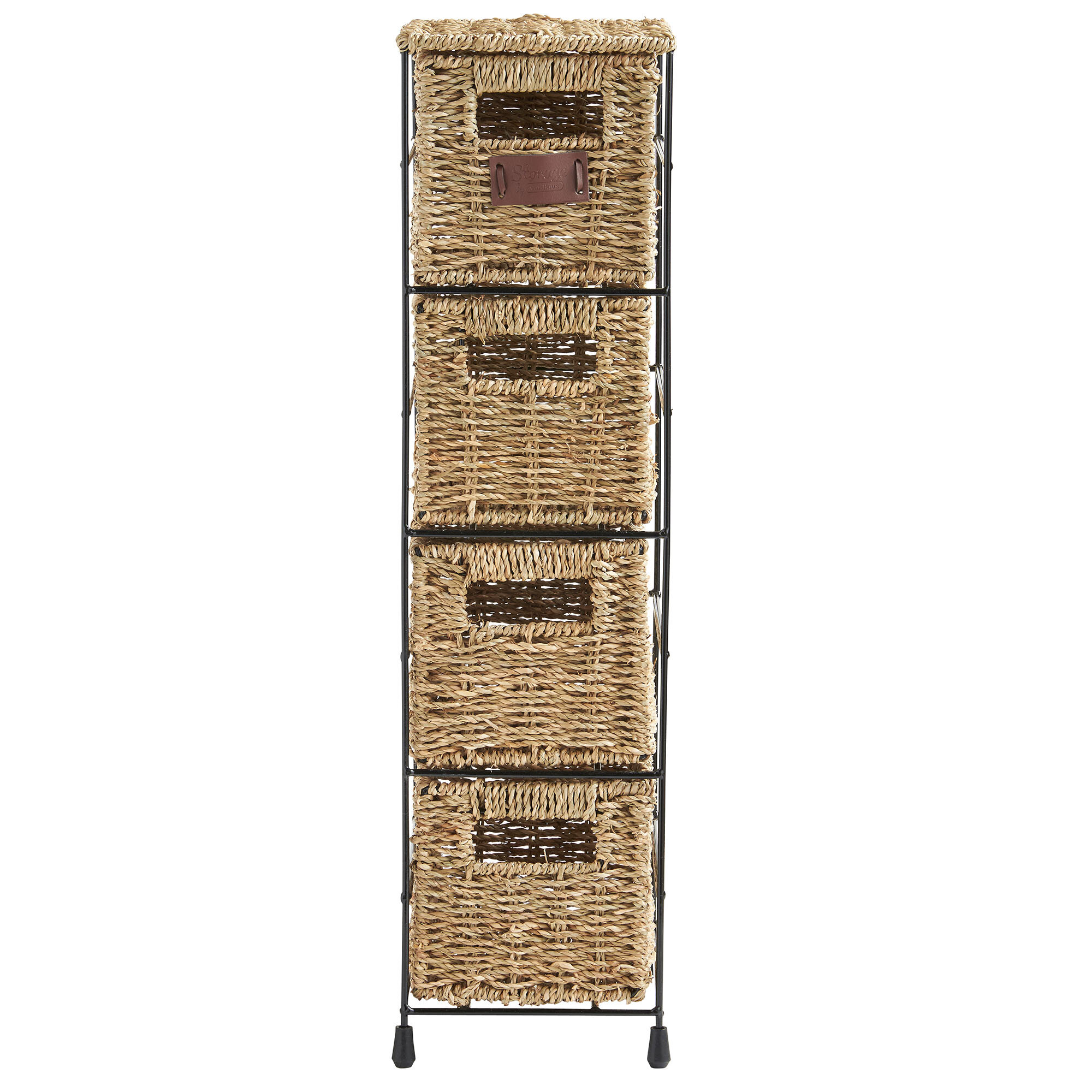 Brand new VonHaus 4 Tier Seagrass Storage Basket Tower Unit & Reviews | Wayfair JP17