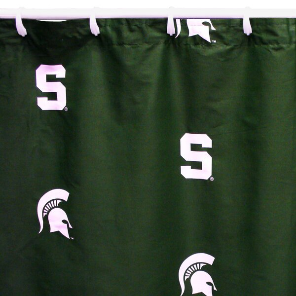 NCAA Michigan State Cotton Printed Shower Curtain by College Covers