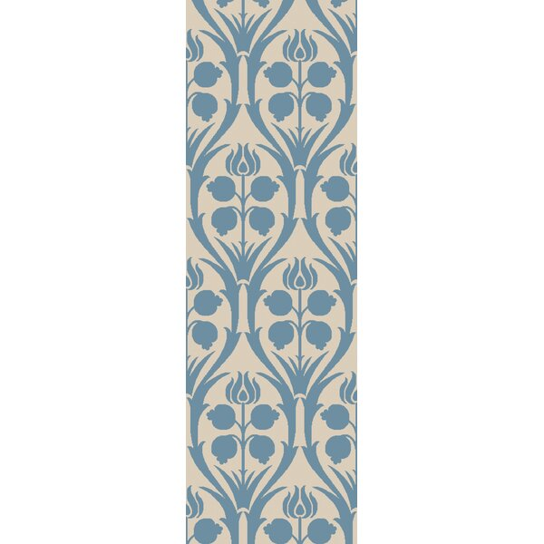 Baconton Hand-Hooked Blue/Beige Area Rug by Bungalow Rose