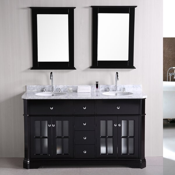 Princeton 60 Double Bathroom Vanity Set with Mirror by Home Loft Concepts