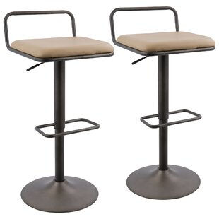Big Save Moa Adjustable Height Swivel Bar Stool (Set of 2) by 17 Stories