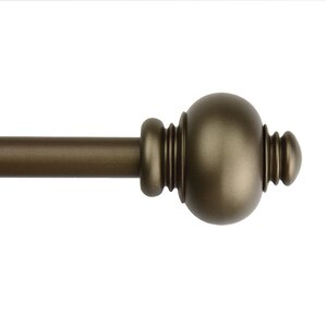 classic knob single curtain rod and hardware set